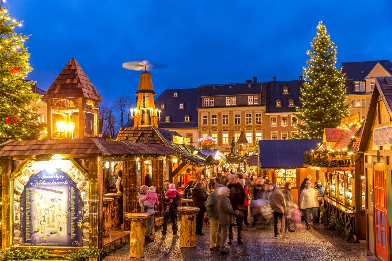 Christmas market in Annaberg, Germany