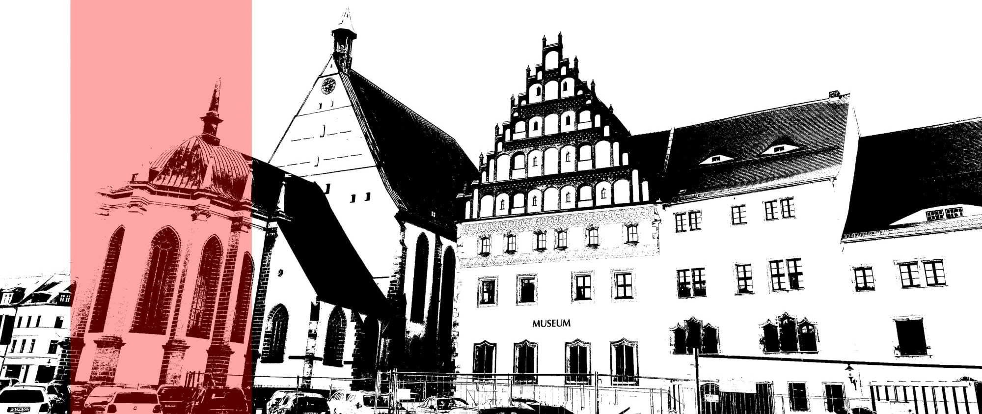 The view of the buildings in the town