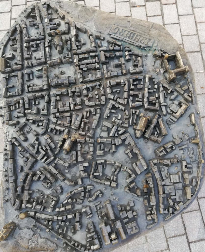 The model of Freiberg made of metal