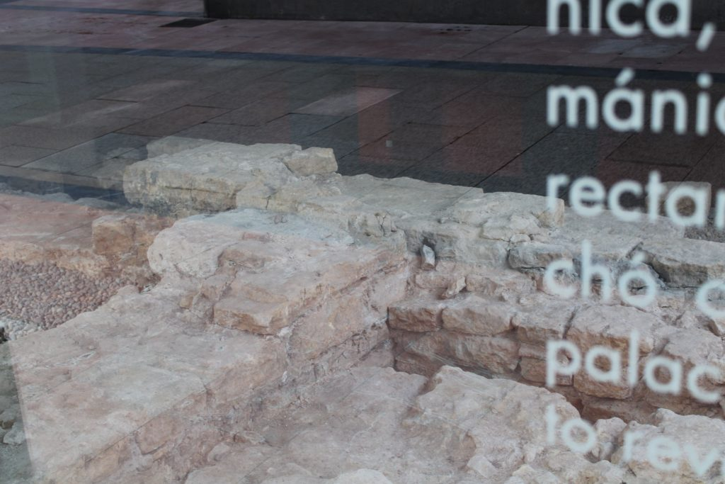 pre-Romanesque archaeological remains under a new building in Oviedo