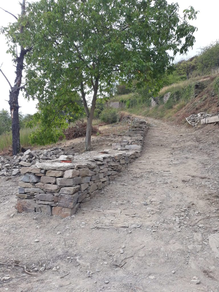 Traditional dry stone wall