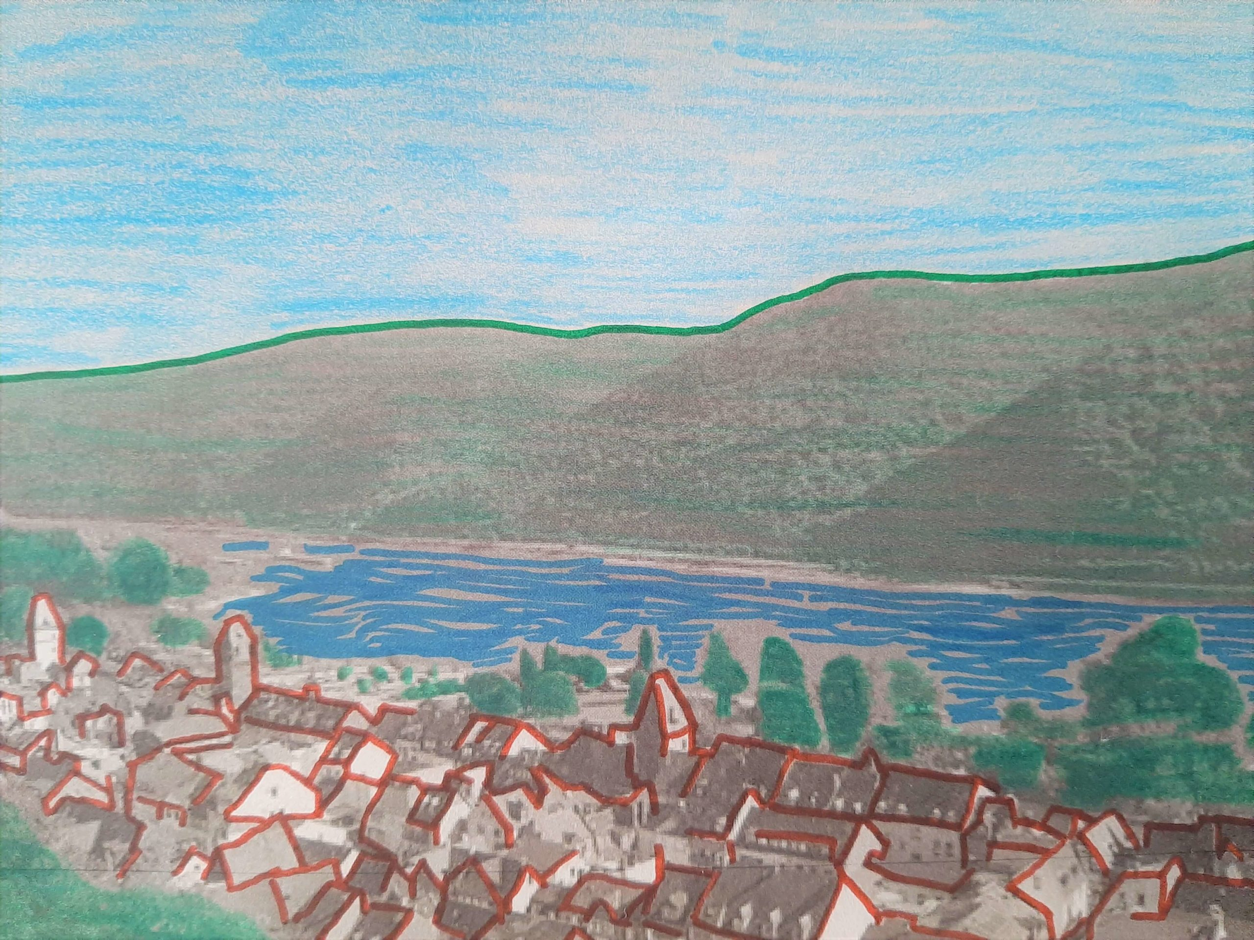 My own postcard of the Upper Middle Rhine Valley