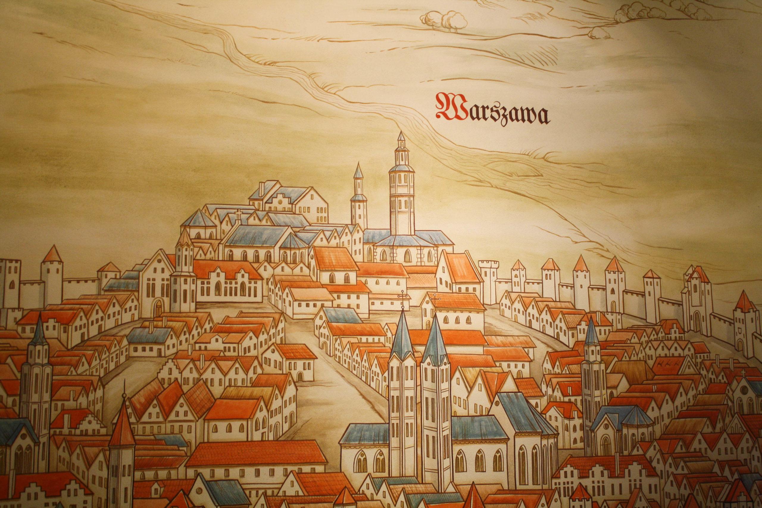 Illustration of historic Warsaw