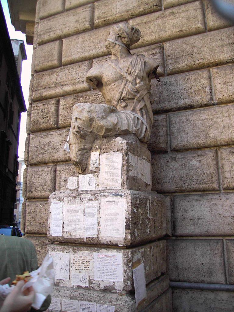 pasquino, talking statue of rome