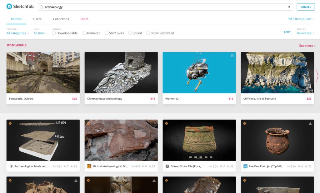 """Sketchfab """"archaeology"""""""