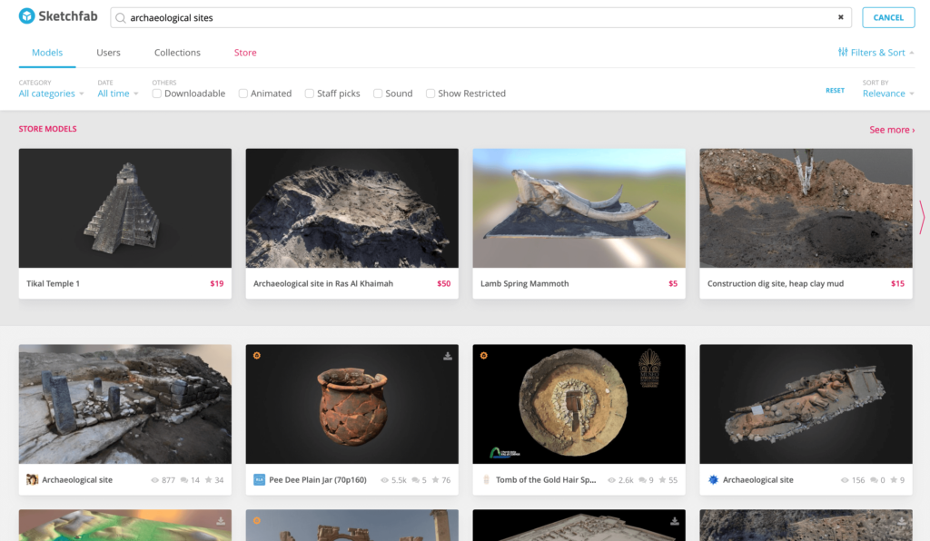 "Sketchfab ""archeological sites"""