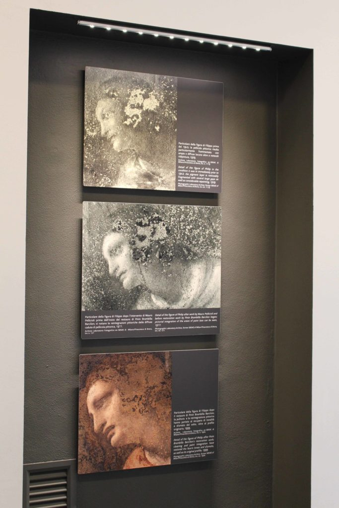 The exhibition: the head of Filippo during the restorations of XX century