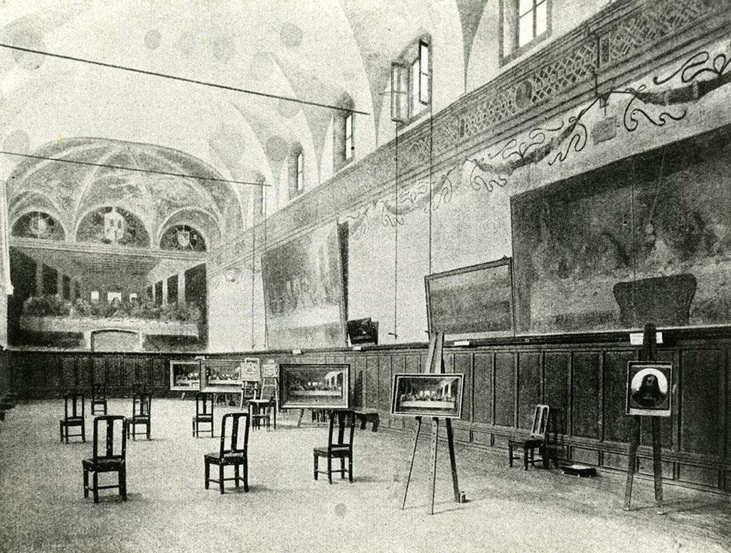 The refectory of Santa Maria delle Grazie set up in 1895