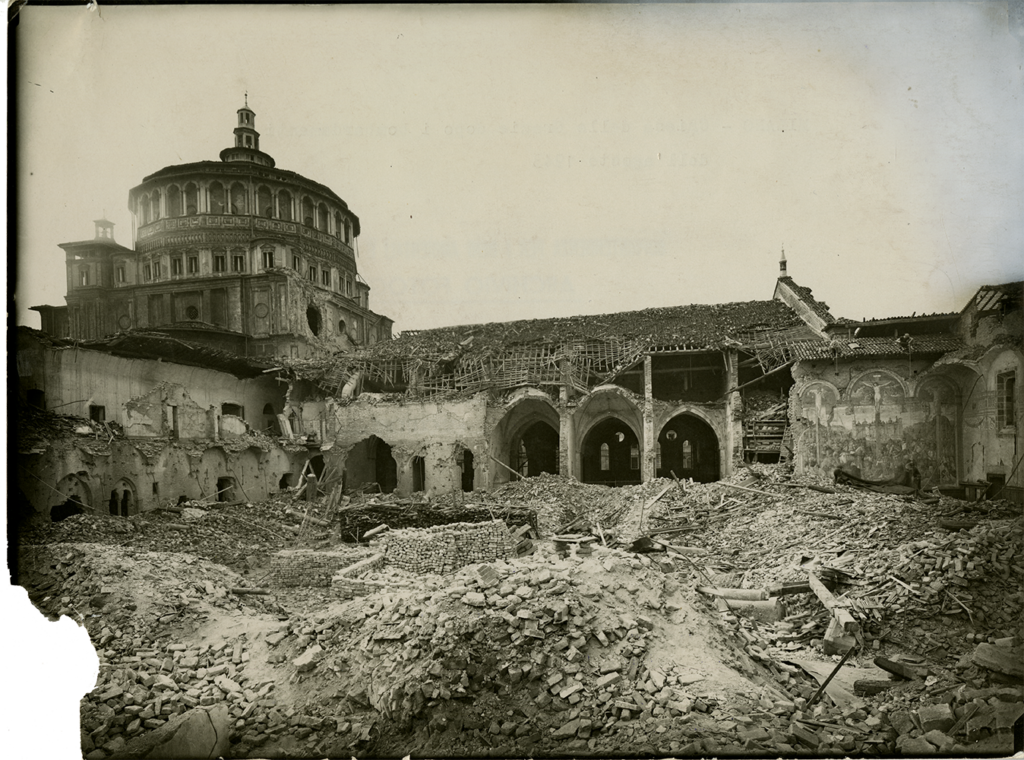 Santa Maria delle Grazie after the bombing, 1943