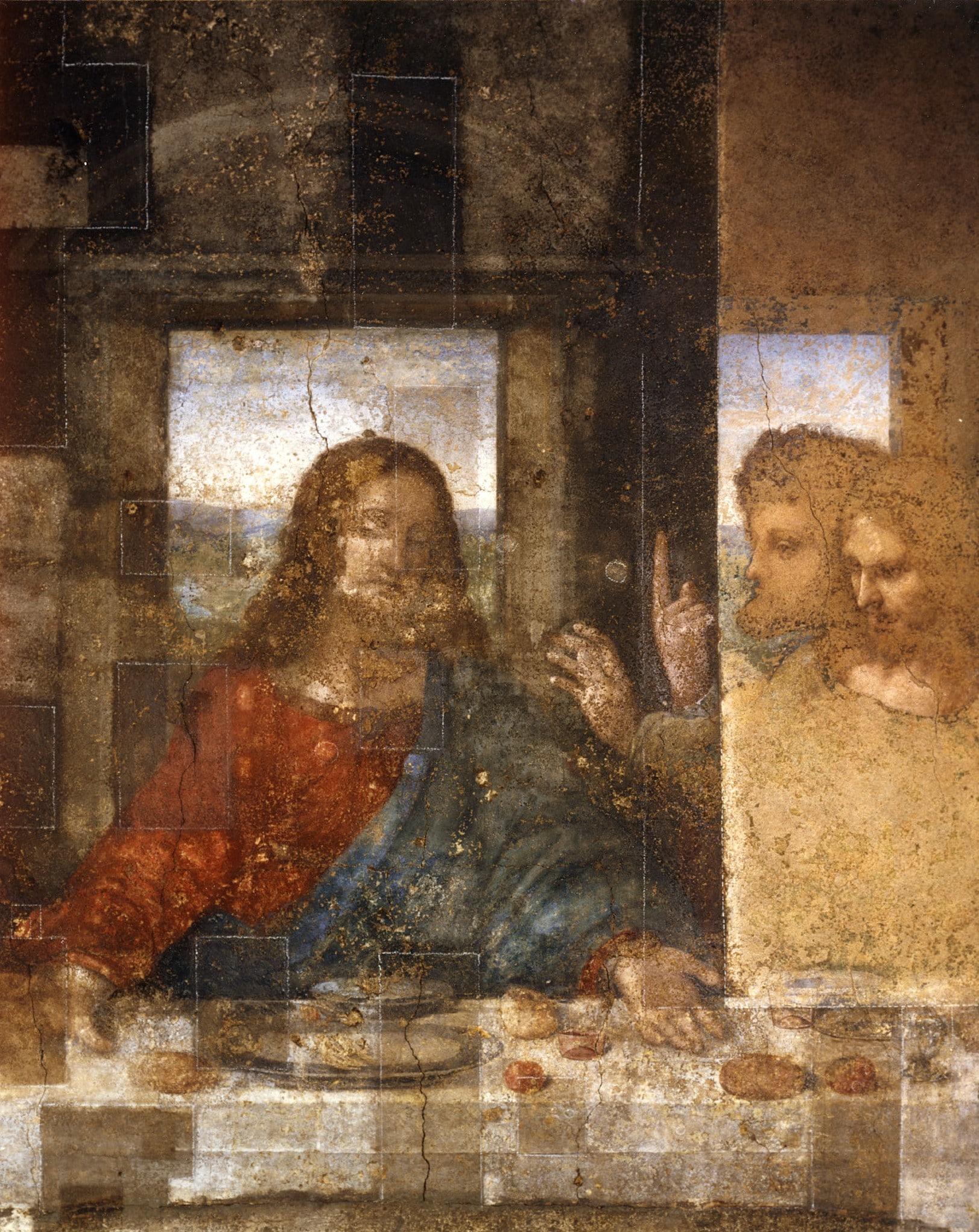 Detail during the restoration work by Pinin Brambilla Barcilon