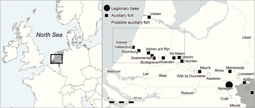 Roman sites in the Netherlands