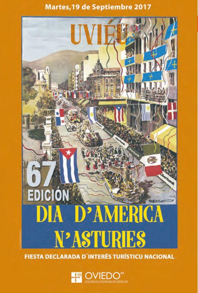 """""""Dia d'America n'Asturies"""" poster"""