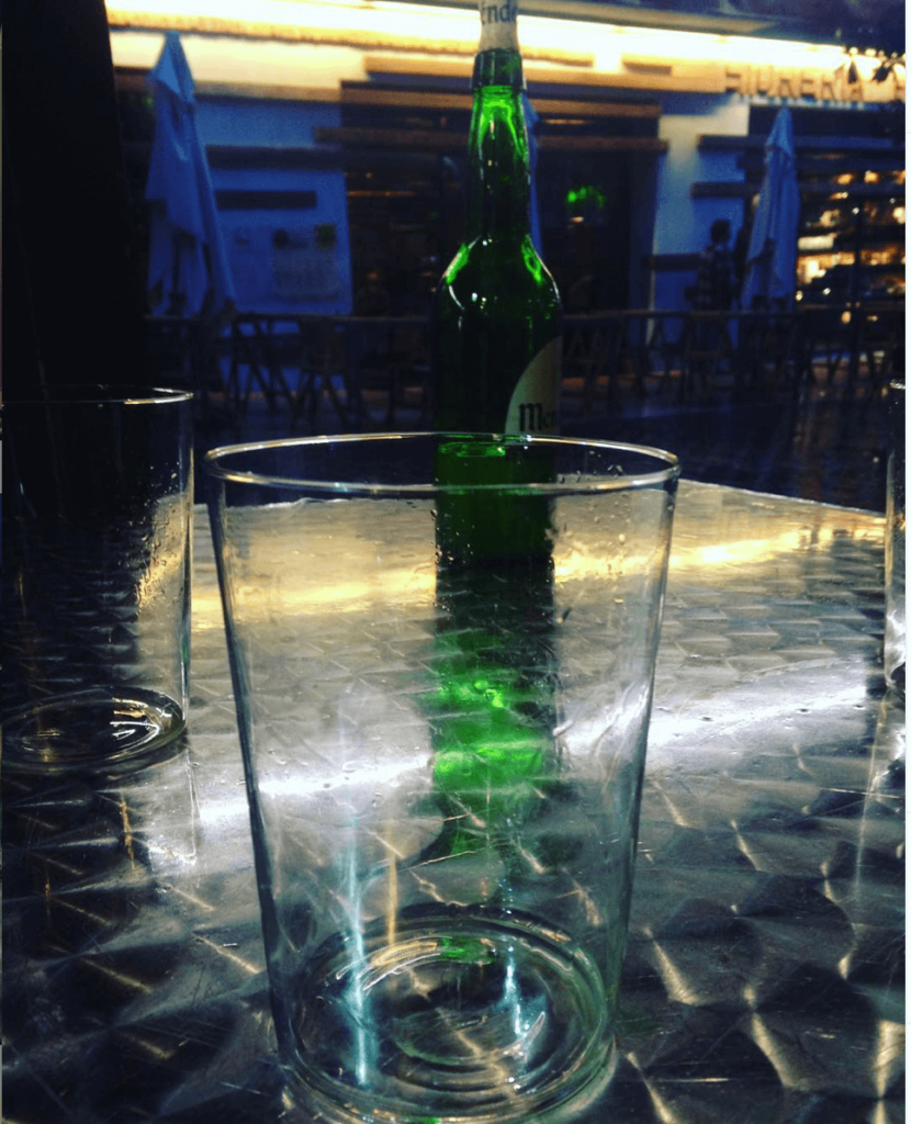 Cider and glass