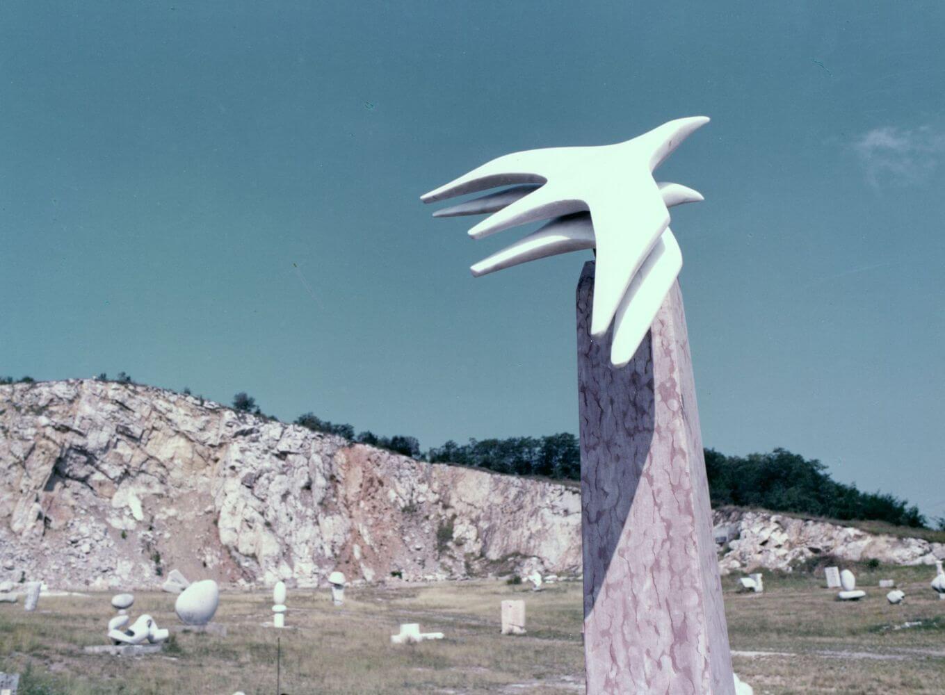 modernist stone statues nagyharsany statue park
