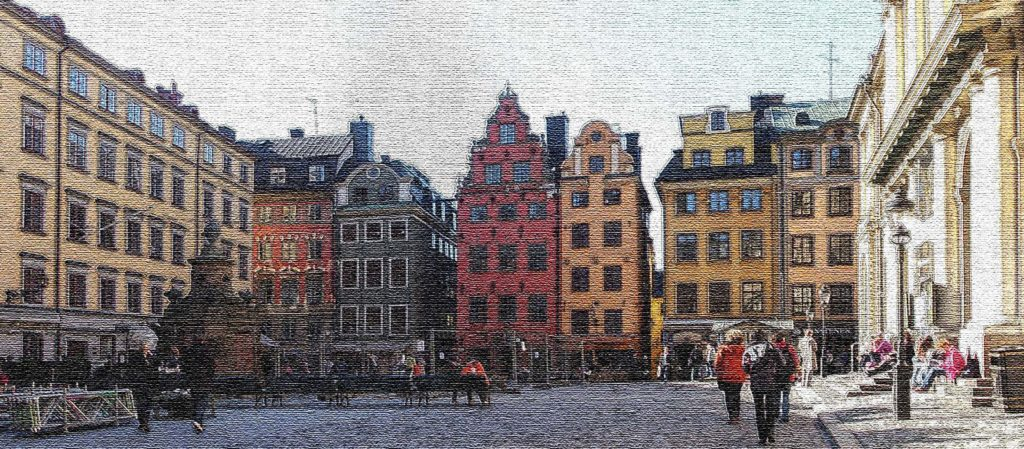 The dark side of Stortorget, the oldest square of Stockholm