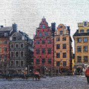 The dark side of Stortorget, the oldest square of Stockholm