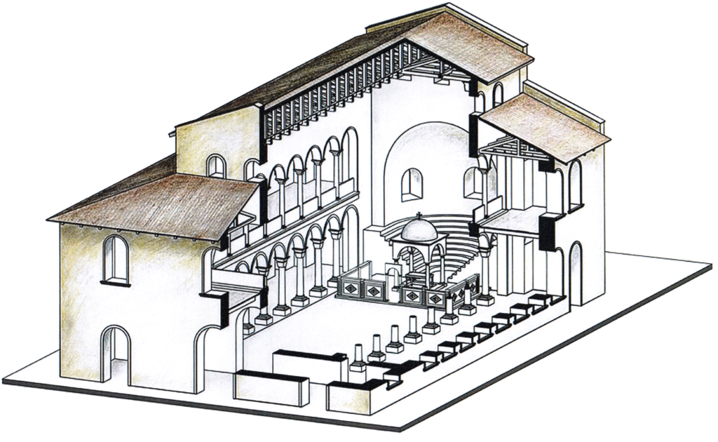 Reconstruction of the basilica in Palmatis