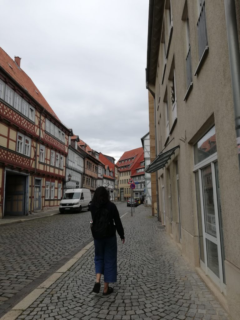 This image shows the Jewish quarter houses, some of the oldest ones left in Halberstadt.