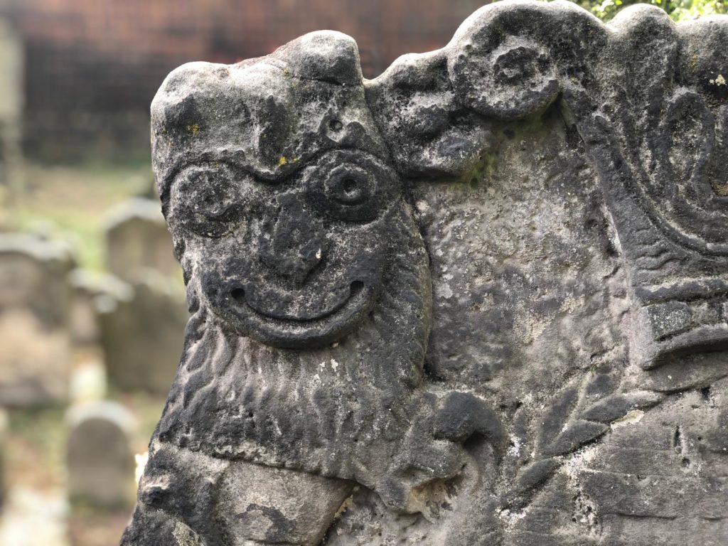 Image 3.6: The ornamentation of the gravestone in the Jewish cemetery.
