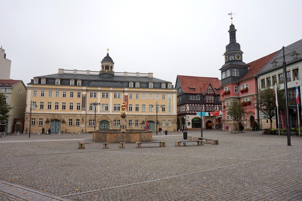 City square and the structures