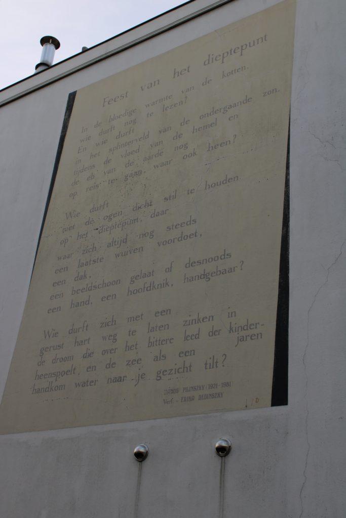 Poem by J. Pilinszky (translated to Dutch)