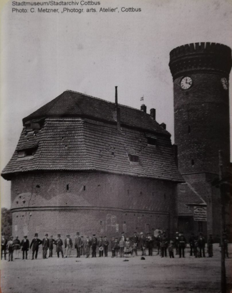 The Bastion in front of Spremberg Tower before 1875