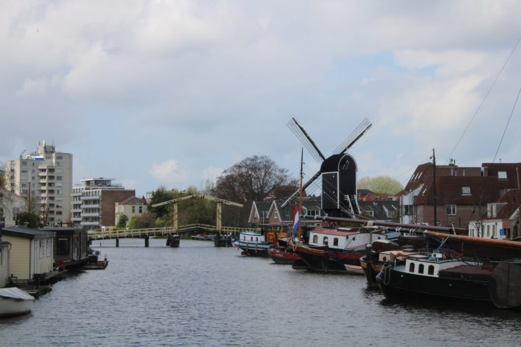 Windmill and harbour view