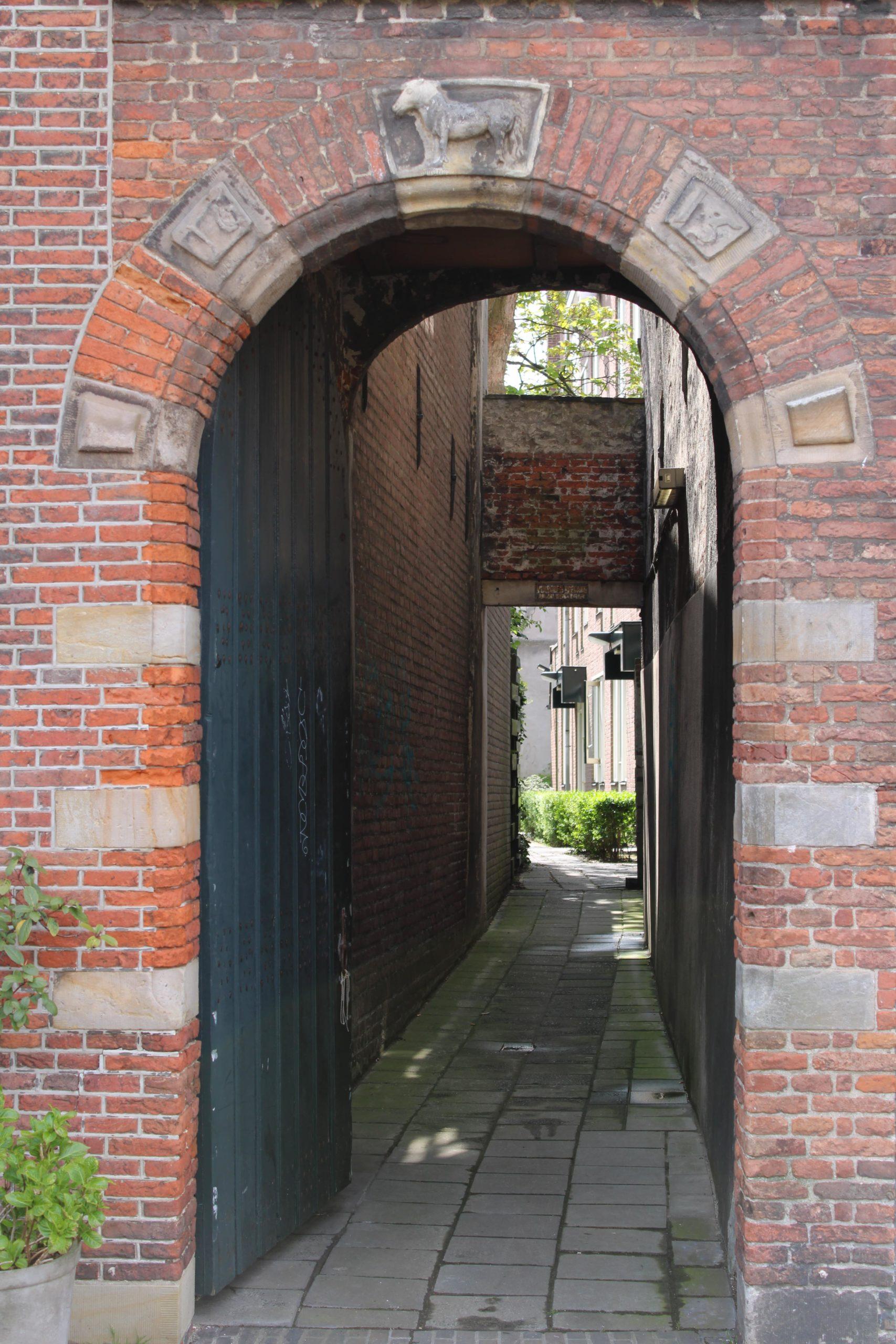 Door to an inside garden